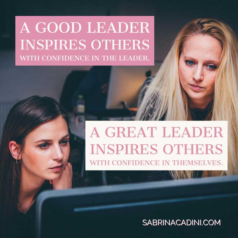 the difference between a god leader and a great leader by sabrina cadini, business coach for wedding entrepreneurs