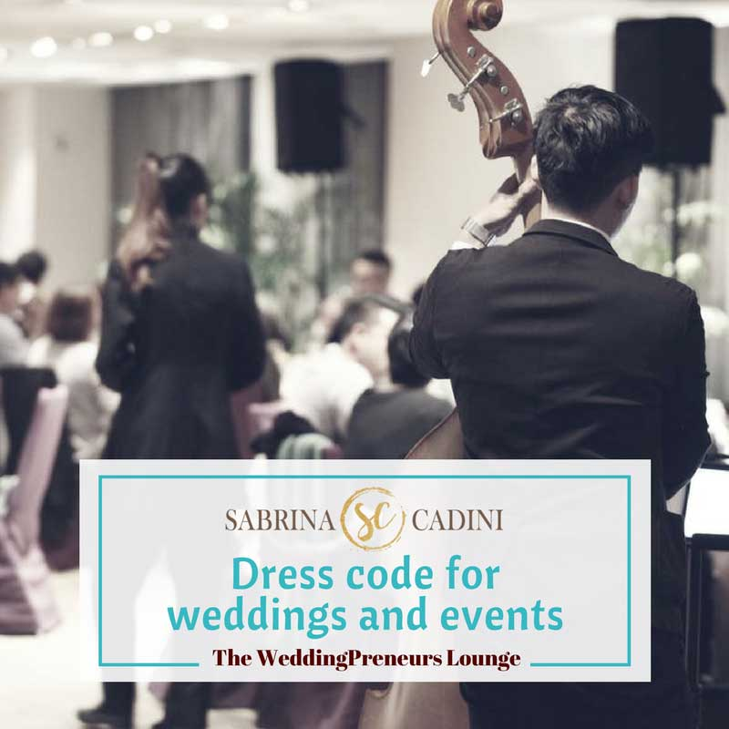 sabrina cadini on the weddingpreneurs lounge talking about dress code for weddings and events business coach