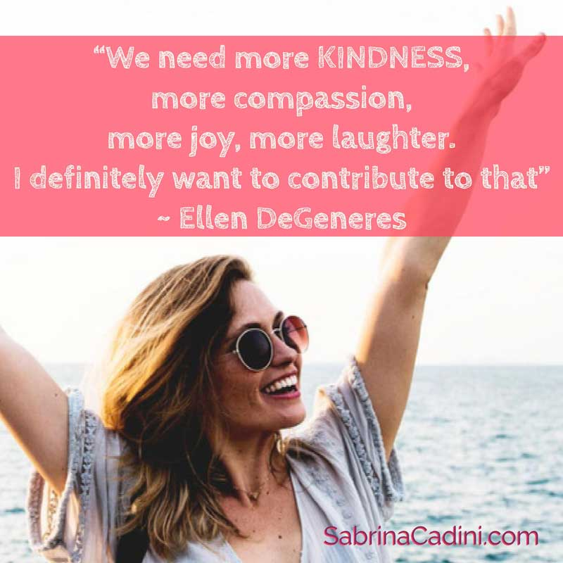 sabrina cadini monday moves me motivation quote world kindness day wedding business coach