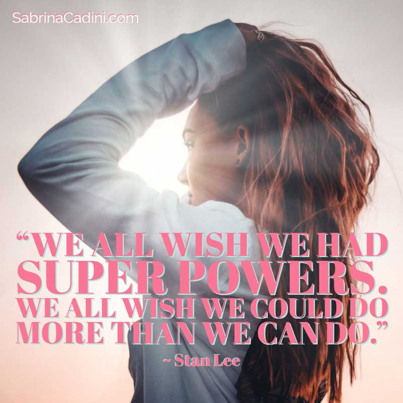 sabrina cadini monday moves me super powers creative entrepreneurs business coach stan lee motivational inspirational