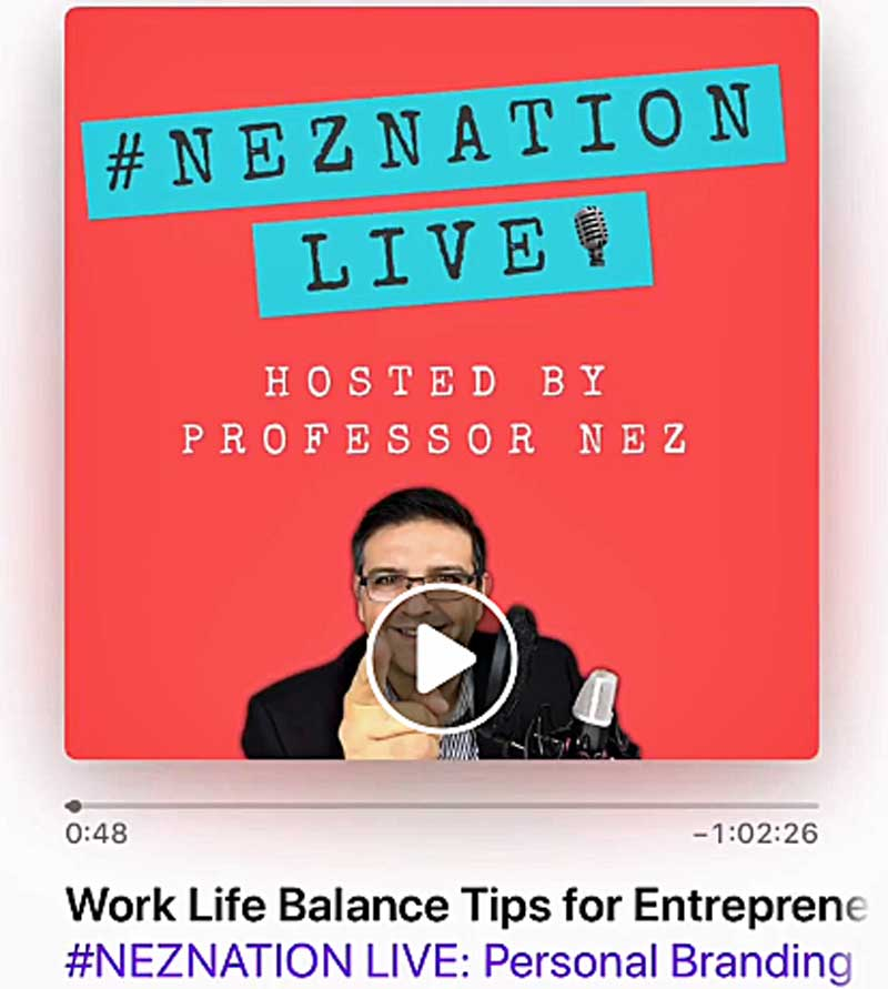 sabrina cadini podcast interview professor nez neznation life work balance