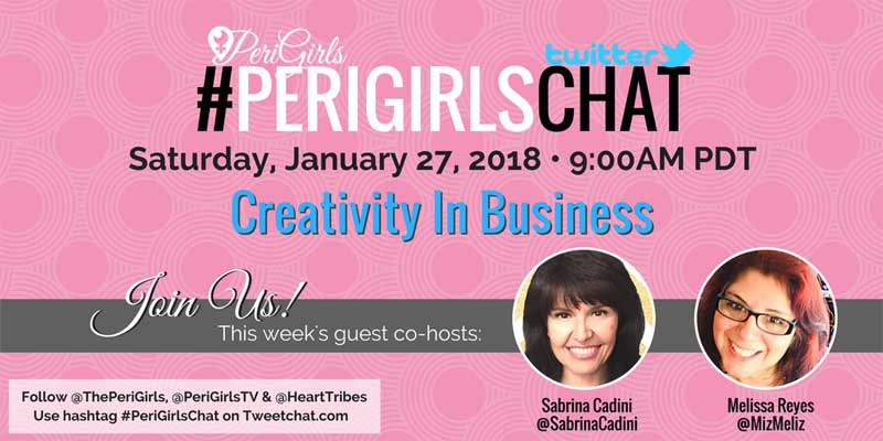 sabrina cadini creativity twitter chat perigirlschat guest business coaching inspiration creative entrepreneurs