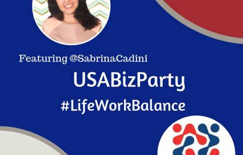 sabrina cadini guest Twitter chat #USABizParty life-work balance creative entrepreneurs self-employed social media productivity self-care wellbeing overwhelm body-mind connection stress