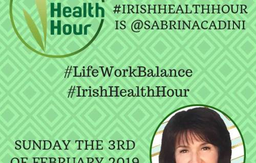 sabrina cadini guest twitter chat irishhealthhour life-work balance body mind connection