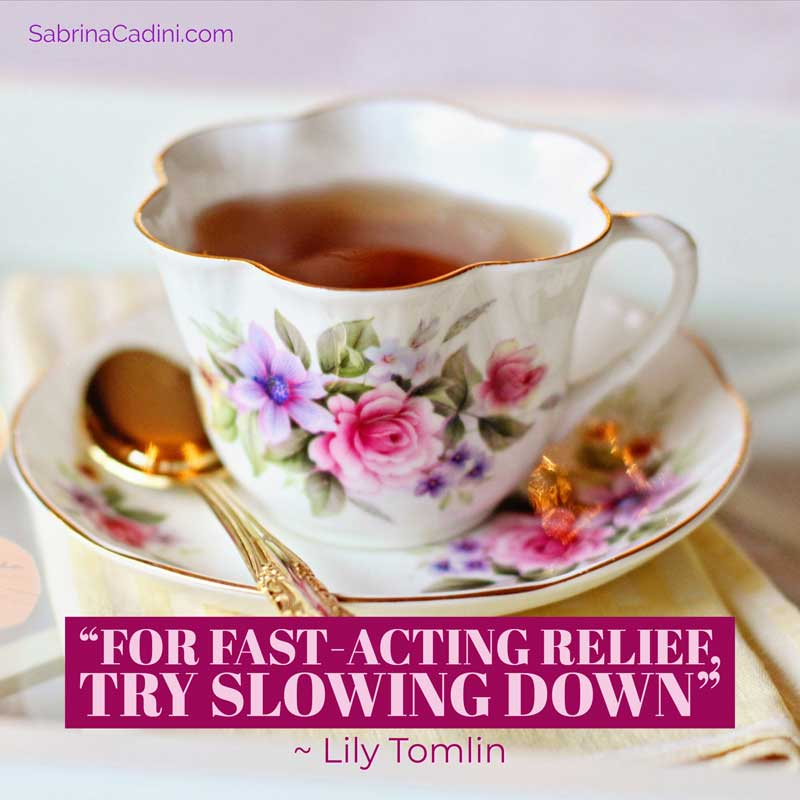 sabrina cadini monday moves me motivation slow down life-work balance live better