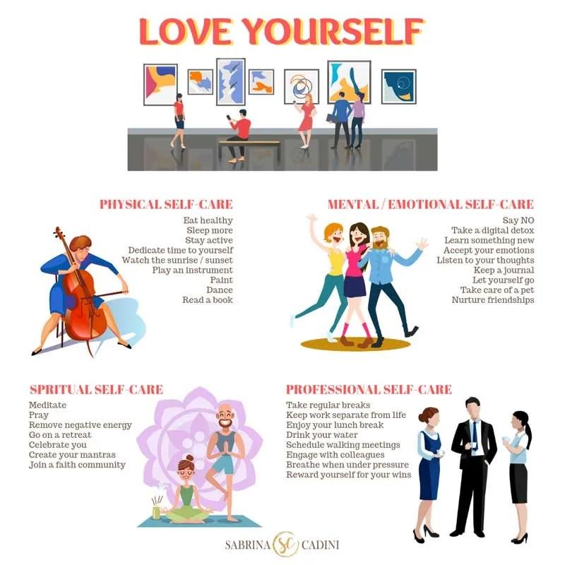 Love yourself Sabrina Cadini-Holistic Life and Brain Fitness Coach