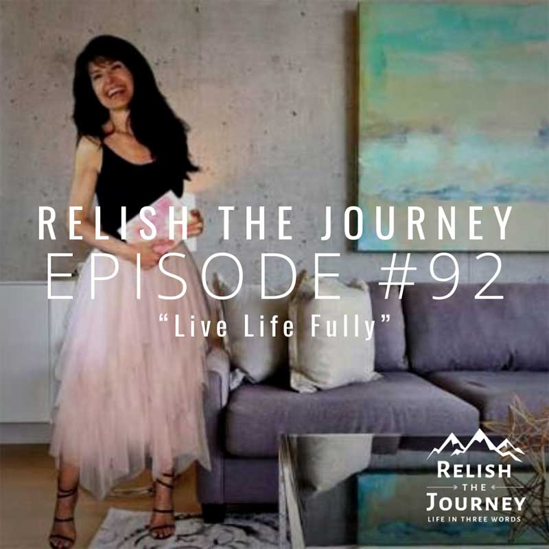 sabrina cadini holistic life coach relish the journey podcast guest brain health gut-brain connection life-work balance neurogenesis