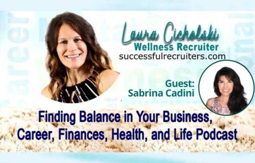 sabrina cadini holistic life coach finding balance podcast guest time management wellness