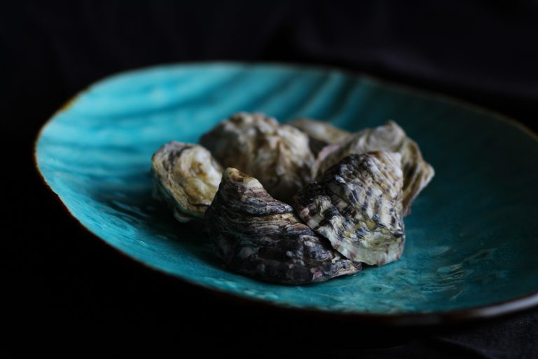 Local Kushi oysters from the pacific ocean