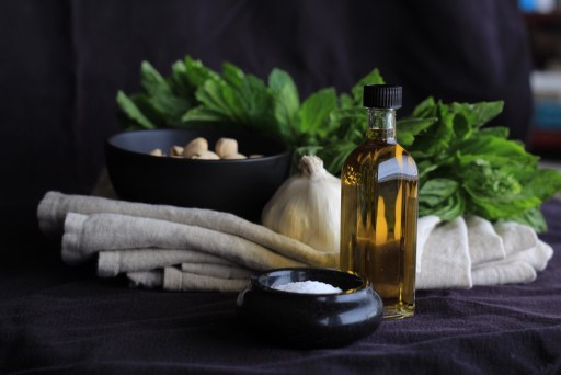 Vegan Mint Basil Pesto Recipe-Vegan