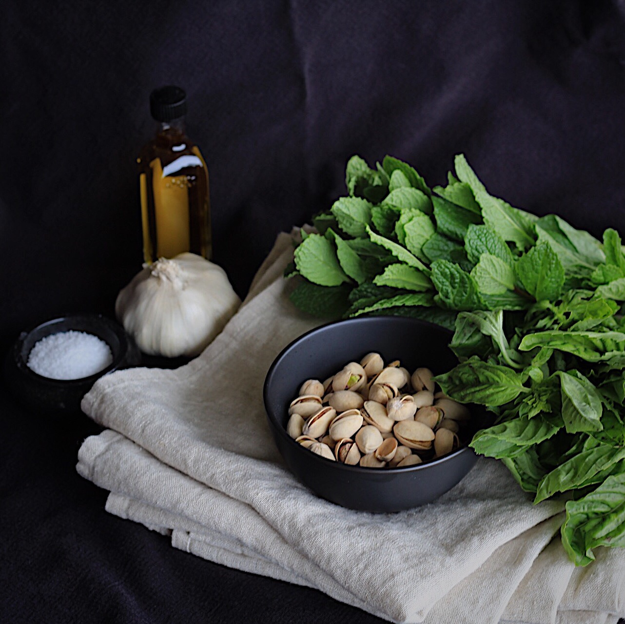 Mint Basil and Pistachio Pesto  (Vegan, GF)