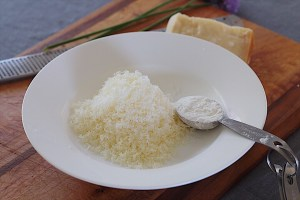 Parmesan Cheese and Cornstarch