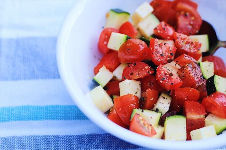 Summer Zucchini and Tomatoes