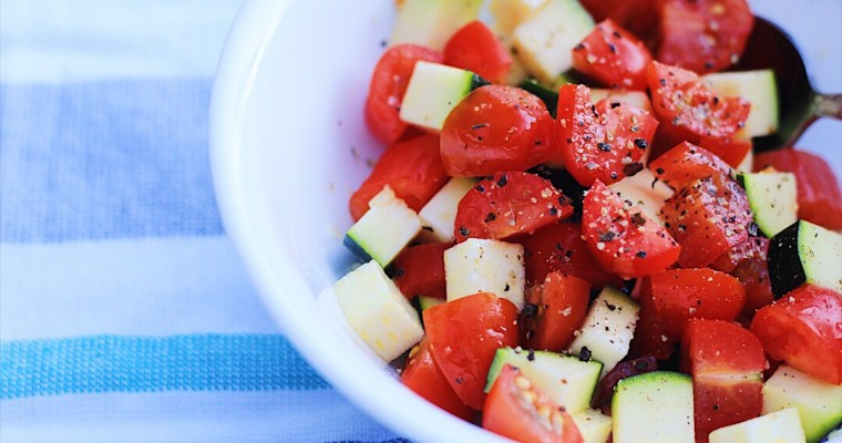 Fast and Easy Summer Dinner (also a recipe to use zucchini!)