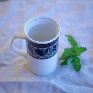 Making a cup of comforting mint tea