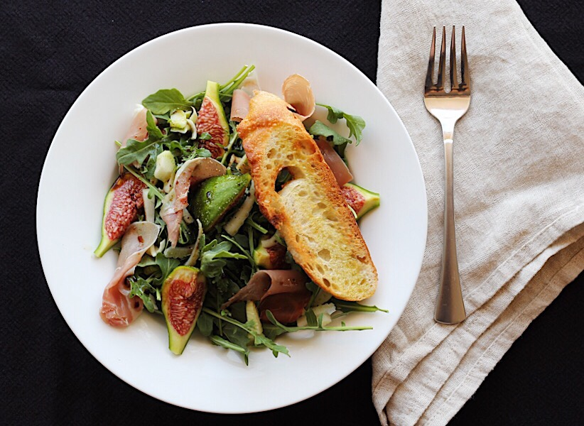 Fabulous Fresh Fig Salad with Fennel and Prosciutto