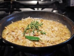 Making Wild Mushroom Risotto