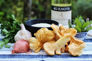 Ingredients for Chanterelle Mushroom Risotto