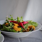 Japanese Green Salad With Apple Carrot Ginger Dressing