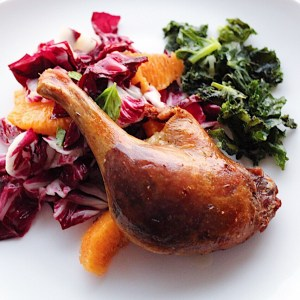 Duck Confit And Radicchio Orange Salad