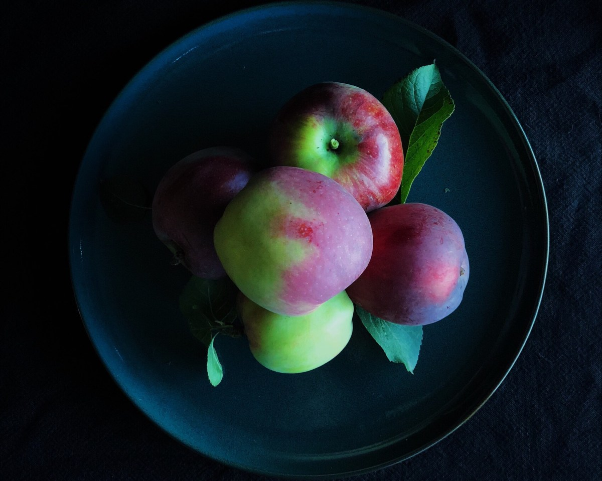 Apples from my tree on Vancouver Island