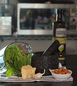 Parmesan Hazelnuts And Sorrel For Pesto