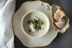 Sustainable Seafood-Pacific Oysters In An Oyster Soup