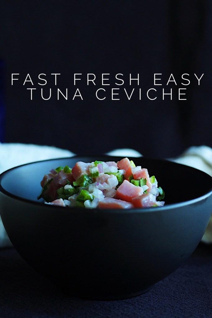 Easy Tuna Ceviche Recipe