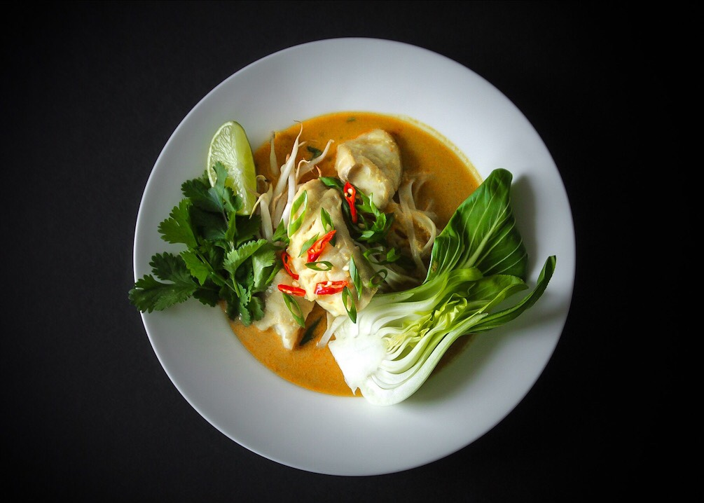 Easy authentic Snapper Laksa