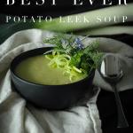 Potato Leek Soup, Vegetarian And Gluten-Free
