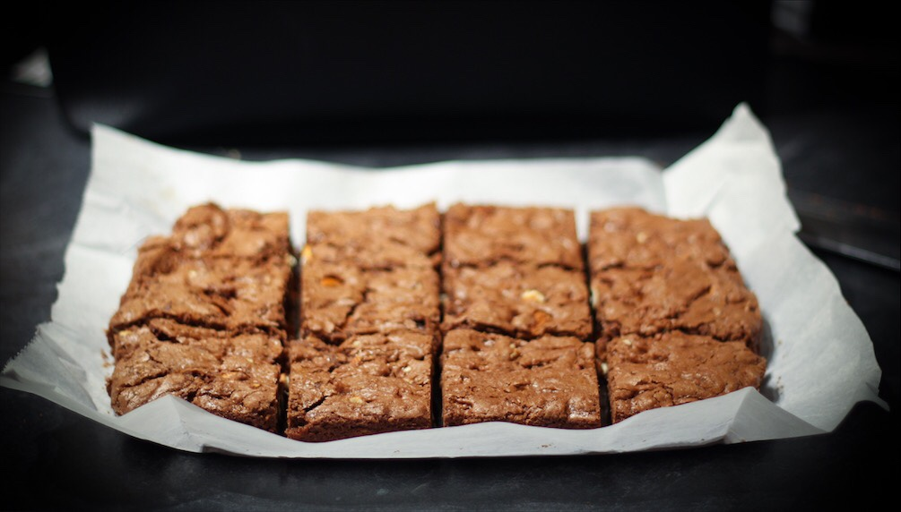 One Bowl Chocolate Almond Brownie Recipe