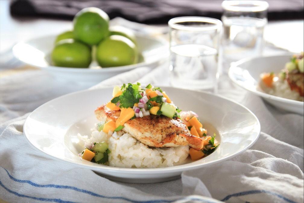 Quick Easy Weeknight Dinner Recipe-Fuit Salsa Over Chicken Or Fish