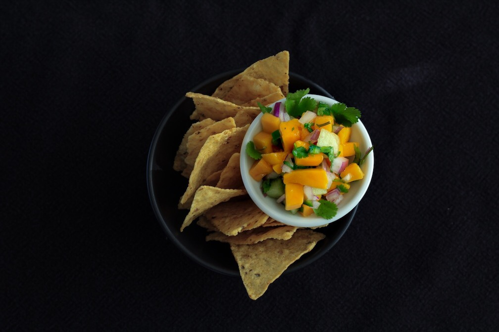Mango And Melon Salsa And Chips