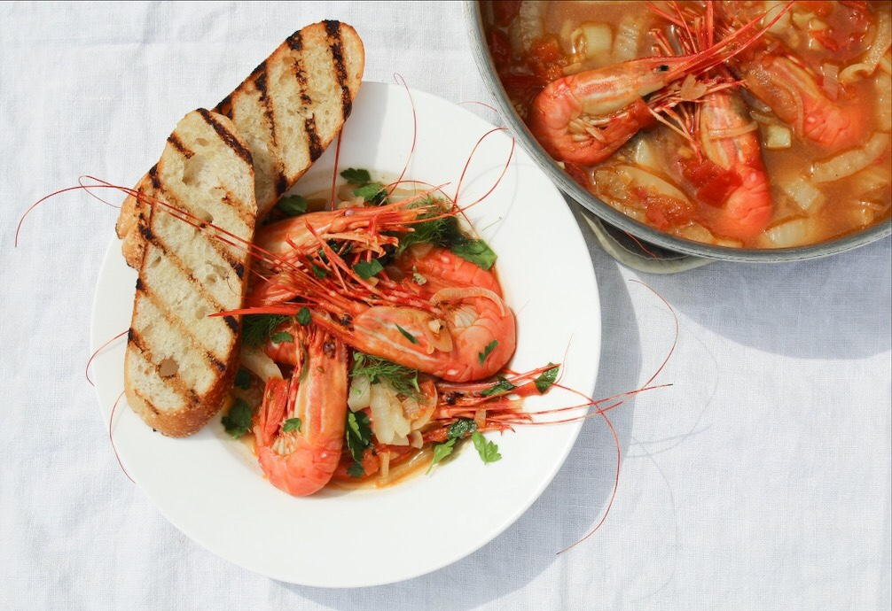Oceanwise Spot Prawns In Tomato Orange Fennel Broth