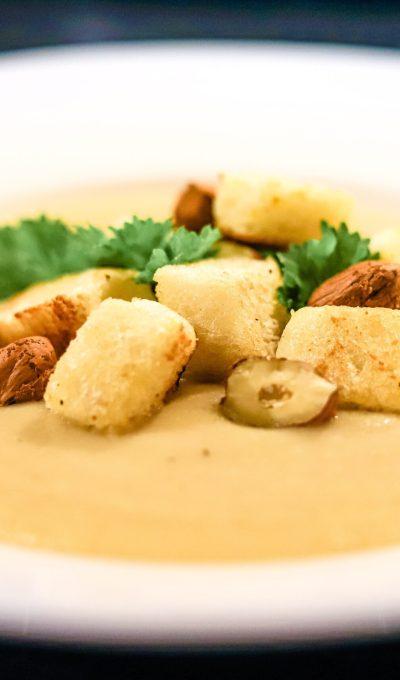 Roasted Cauliflower Soup With Hazelnuts