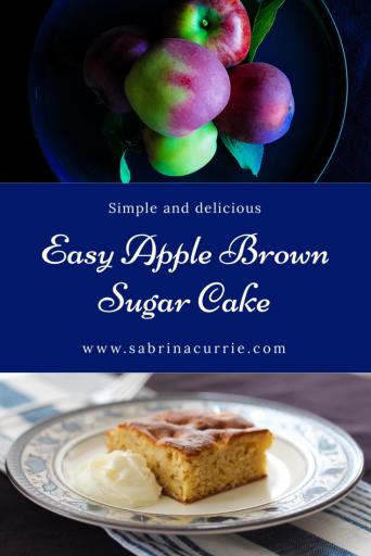 Easy Apple Brown Sugar Cake-Only 8 Ingredients!