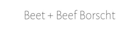 Borscht Recipe Link