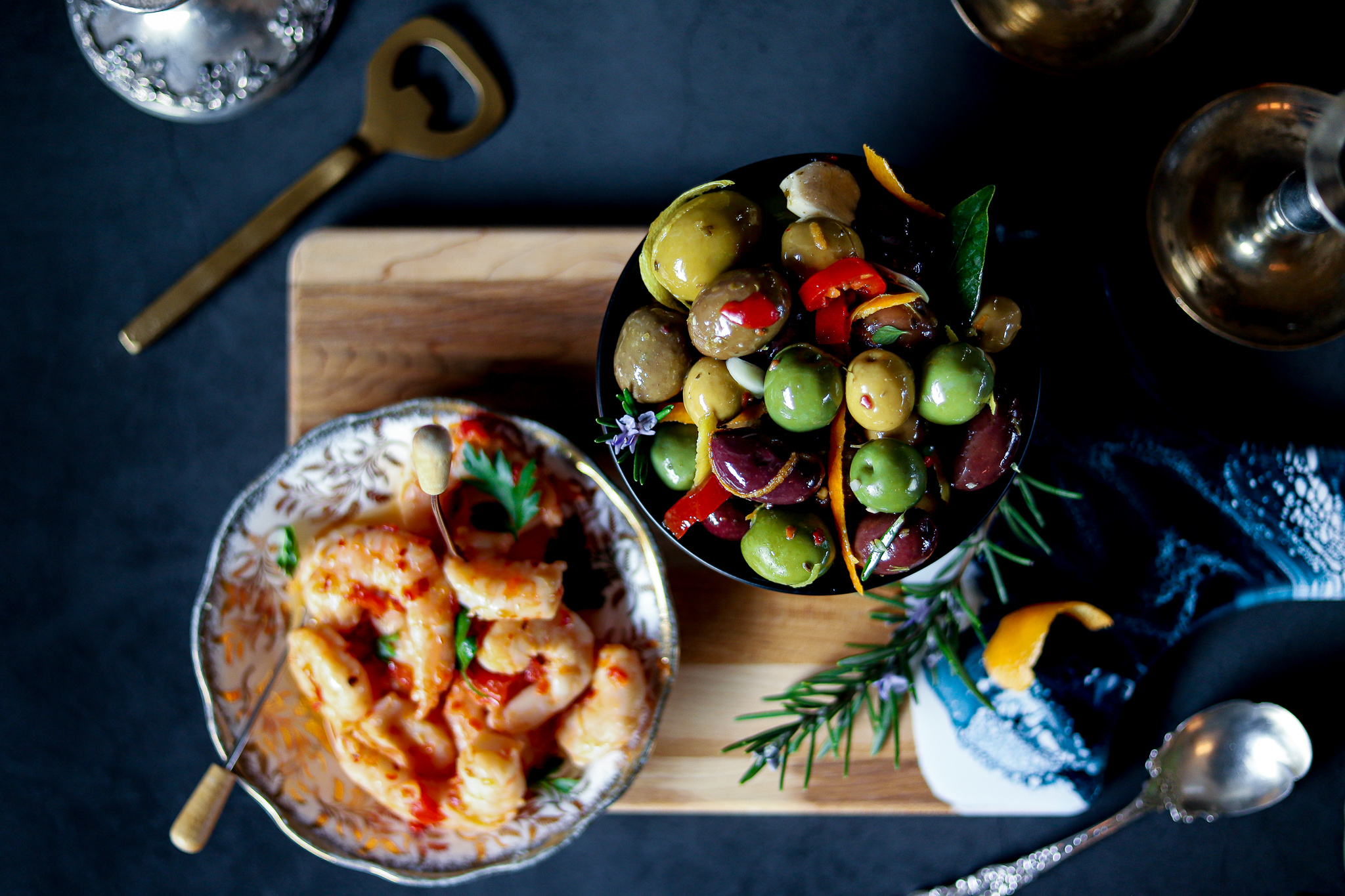 Warm Marinated Olives-An Easy Festive Appetizer