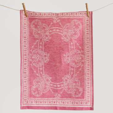 Pink damask linen tea towels from my shop take a basket of strawberry muffins to the next level!