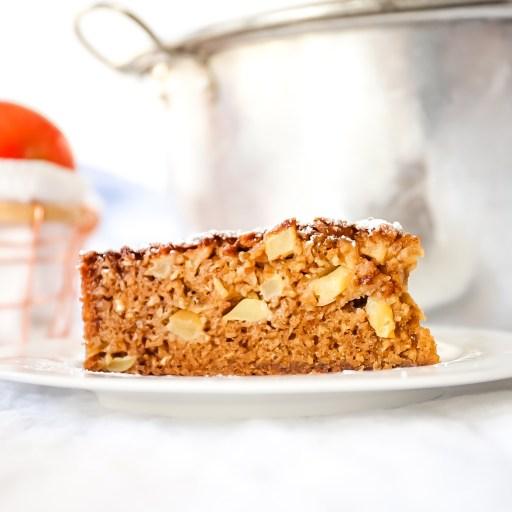 Apple Oatmeal Cake using Cosmic Crisp Apples