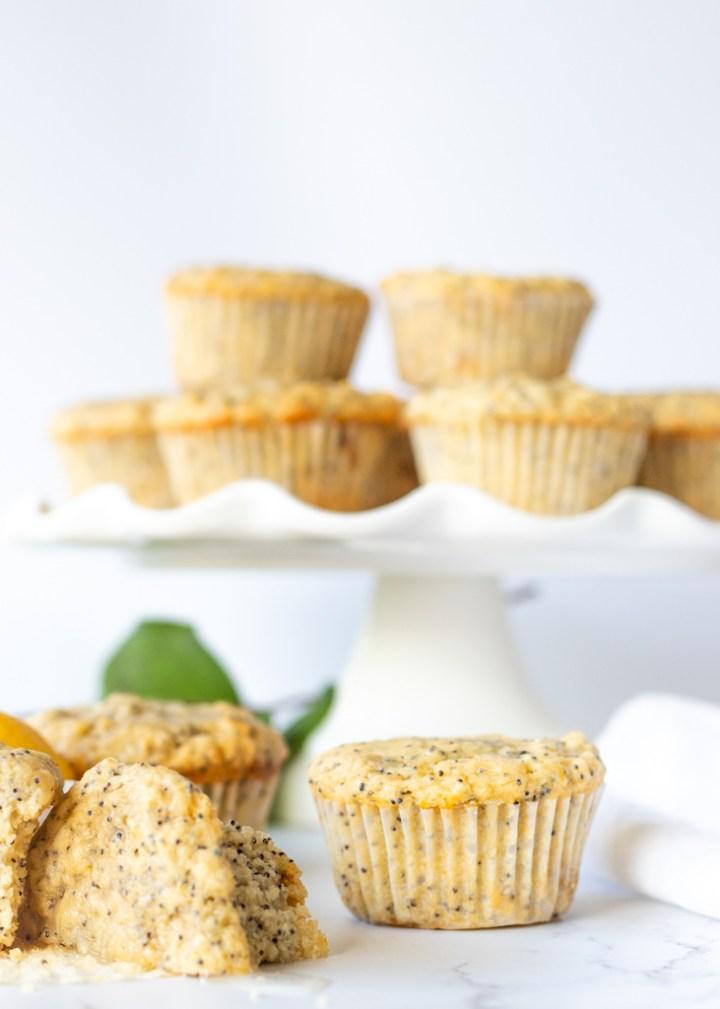 Lemon Poppy Seed Muffins-Vegan