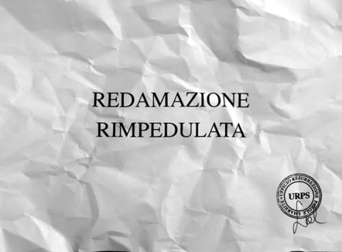 """Sabrina D'Alessandro, """"REDAMAZIONE RIMPEDULATA"""", video 2015, URPS, Ufficio Resurrezione Parole Smarrite, Divisione Mutoparlante, SkyArte 2016"""