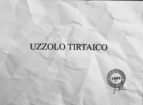 """Sabrina D'Alessandro, """"UZZOLO TIRTAICO"""", video 2015, URPS, Ufficio Resurrezione Parole Smarrite, Divisione Mutoparlante, SkyArte 2016"""