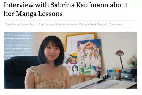 Presentation of my manga art lessons and other projects Interview: Geekslifeluxembourg, Sam Van Maris