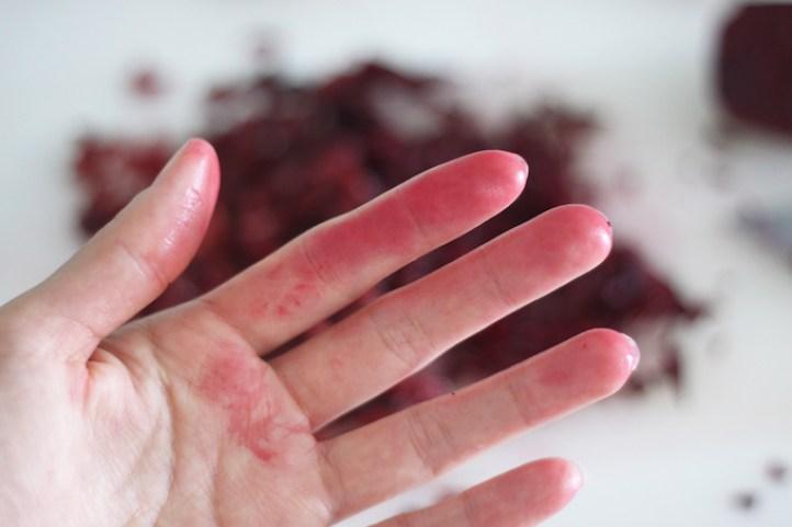 main taché colorant alimentaire
