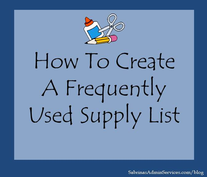 list of office supplies needed for a small business