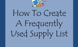 frequently used supply list