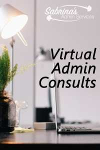 Virtual Admin Consults from Sabrina's Admin Services