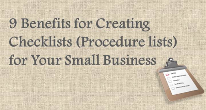 9 Benefits for Creating Checklists