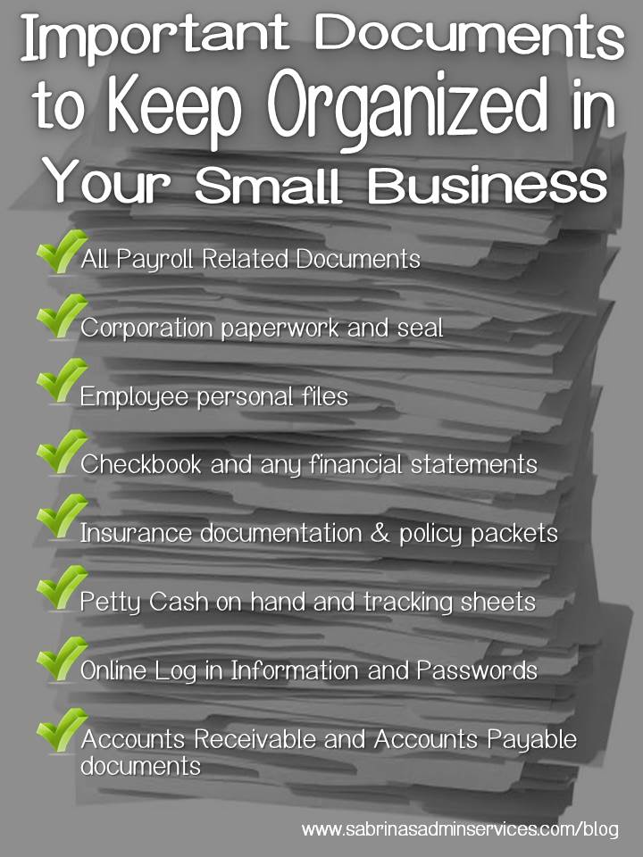 Important Documents to Keep Organized in Your Small Business